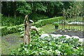 SD4615 : Scarecrow in Rufford Old Hall vegetable garden by Graham Hogg