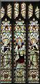 TM1577 : St Nicholas, Oakley - Stained glass window by John Salmon