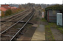 SO8555 : Railway NE from Worcester Foregate Street station by Jaggery