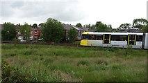 SD7908 : Metrolink tram passing through Radcliffe by Bradley Michael