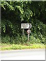 TM3864 : Roadsign on the B1121 Main Road by Adrian Cable