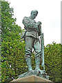 TM1644 : The Suffolk Soldiers Memorial, Christchurch Park (detail) by Adrian S Pye