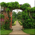 SK3722 : Calke Abbey: entrance to the kitchen garden by John Sutton