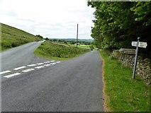SD6382 : Road junction outside Barbon by Philip Platt