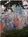 TQ3083 : Section, Tolpuddle Martyrs mural, Edward Square, London N1 by Julian Osley