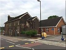 SJ8545 : Royal Stoke University Hospital: Courtyard Annexe by Jonathan Hutchins