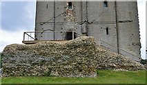 TL7835 : Castle Hedingham: The Norman keep; the west entrance by Michael Garlick