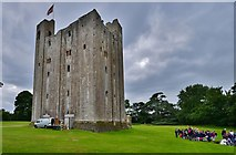 TL7835 : Castle Hedingham: The Norman keep by Michael Garlick