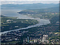 NS4771 : Dalmuir and the Firth of Clyde from the air by Thomas Nugent