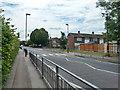 TL4508 : Zebra crossing and railings, Tye Green, Harlow by Robin Webster