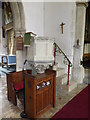 TM0485 : Pulpit of St.Mary's Church by Adrian Cable