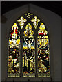 TM0485 : Stained Glass Window of St.Mary's Church by Adrian Cable