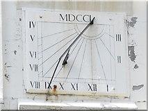 NZ2564 : Sundial on the clock tower on The Keelmens Hospital, City Road, NE1 by Mike Quinn
