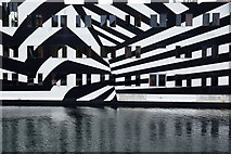 HU4741 : Closeup of the floatel Sans Vitesse, Victoria Harbour, Lerwick by Mike Pennington
