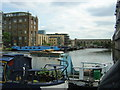 TQ3083 : Basin on the Regents Canal, Kings Cross by Christopher Hilton