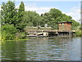 TL0748 : Sluice on the River Great Ouse by M J Richardson