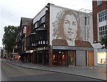 SX9292 : Image of a woman - Exeter High Street by Neil Theasby