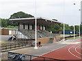 TQ2281 : Stand, Linford Christie Stadium, Wormwood Scrubs by David Hawgood