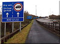 ST5391 : M48 motorway lane usage sign near Chepstow by Jaggery