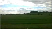 SP9122 : Fields south of Leighton Buzzard, from the railway by Christopher Hilton