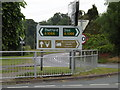 TM0081 : Roadsigns on the A1066 Thetford Road by Adrian Cable