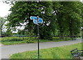 SJ5013 : Sydney Avenue cycle route signpost, Shrewsbury by Jaggery