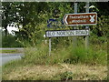 TM0481 : Roadsigns on Blo Norton Road by Adrian Cable