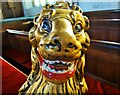 SS9512 : Plaster lion in St Peter's Church, Tiverton by Neil Theasby
