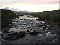 NN2939 : River Orchy at dusk by Malc McDonald