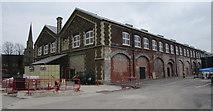 SU1484 : Former GWR railway works building in Swindon by Jaggery