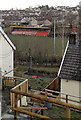 ST1797 : Rugby ground glimpsed from Woodfieldside, Blackwood by Jaggery