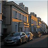 SK5639 : Park Terrace: evening sunlight by John Sutton