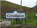 SN7984 : Ceredigion sign on the A44 at Eisteddfa Gurig by Adrian Cable