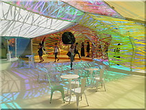 TQ2679 : Serpentine Gallery Pavilion 2015 - colour and shadow patterns by David Hawgood