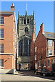 SK5739 : The Lace Market: Commerce Square and St Mary's Church by John Sutton