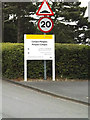 SN5981 : Penglais Campus sign by Adrian Cable