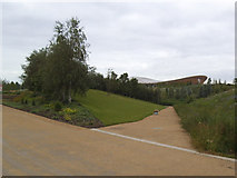 TQ3785 : Side path in the Olympic Park by Stephen Craven