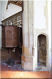 TL4731 : St Mary & St Clement, Clavering - Rood stairs by John Salmon