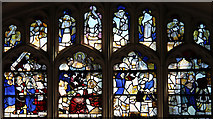 TL4731 : St Mary & St Clement, Clavering - Stained glass window by John Salmon