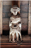 TL4731 : St Mary & St Clement, Clavering - Roof angel by John Salmon