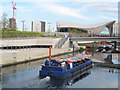 TQ3784 : Pleasure boat on the River Lea (2) by Stephen Craven