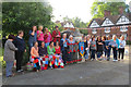 SP9211 : We Yarn Bombed the Church Square at Tring by Chris Reynolds