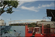 TQ3783 : View of the Olympic Stadium from Bream Street #2 by Robert Lamb