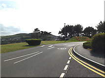 SN5981 : Road near The National Library of Wales by Adrian Cable
