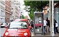 J3373 : Two telephone boxes, Brunswick Street, Belfast (July 2015) by Albert Bridge