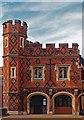 SU9677 : Diaper patterned brickwork, Eton College by Julian Osley