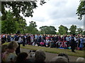 TF6928 : Crowd at Princess Charlotte's christening, Sandringham by Richard Humphrey