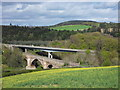 NT5734 : New and Old Bridges over the River Tweed in the Scottish Borders by Andrew Tryon