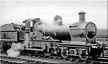 SU1585 : 'Dukedog' 4-4-0 at Swindon, 1946 by Ben Brooksbank