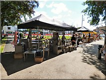 SJ8588 : Cheadle Makers Market on Cheadle Green by Gerald England